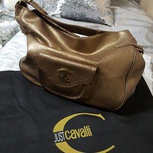 Authentic Just Cavalli bronze handbag